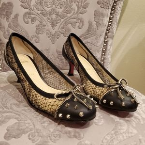 Christian Louboutin Patent Lace Candy Spike Shoes